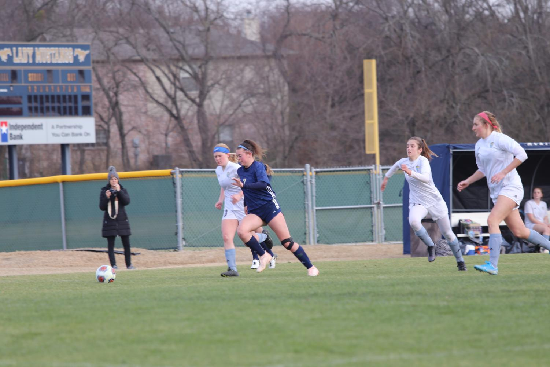 Varsity+Girls+Soccer+Team+Dominates+in+Home+Win