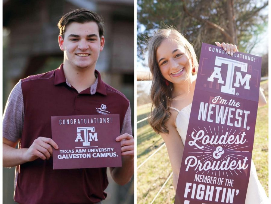 On the left is senior Matthew Free and on the right is Alessia Catullo.