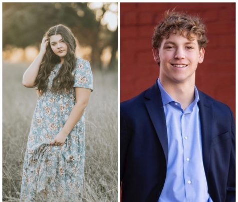 On the left is senior Memorie Treigle and on the right is senior Cooper Roach.