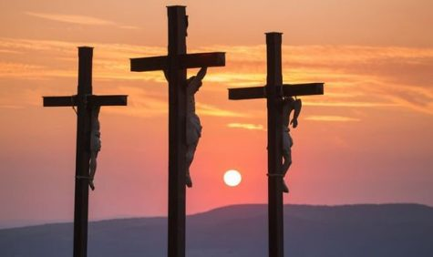 Jesus was nailed to the cross by his wrists and ankles to atone for our sins.