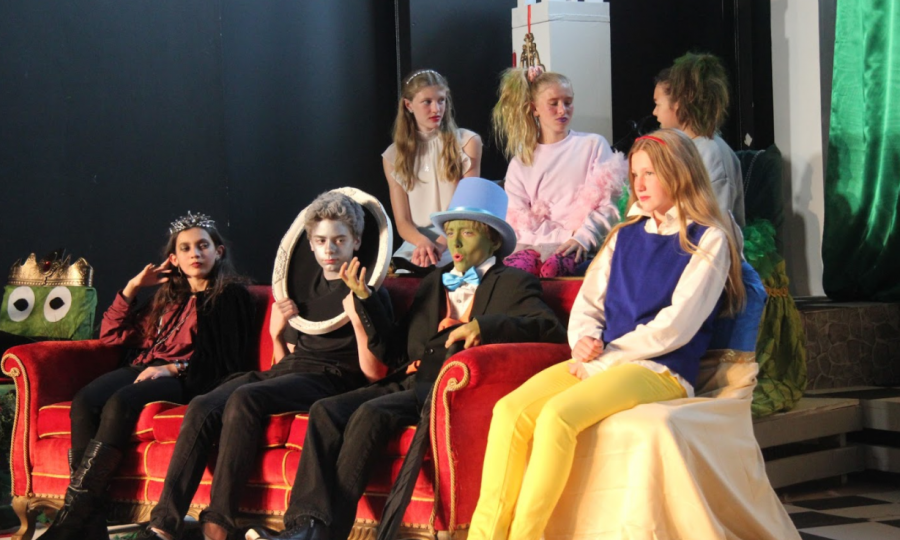 Seventh grade theater performs The Ever After.
