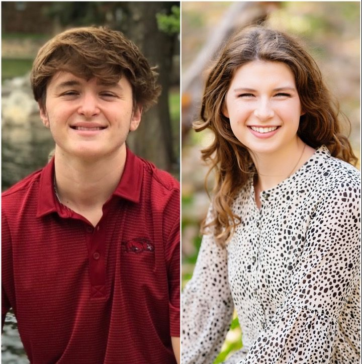 On the left is senior Connor Durbin and on the right is senior Ava Grace Haggard.