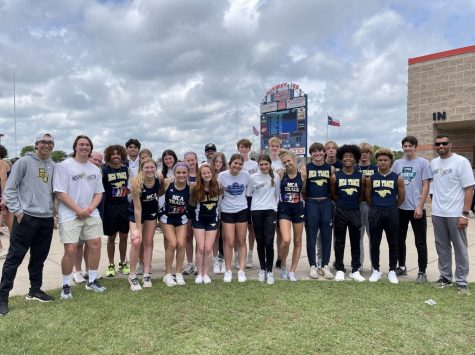 The MCA track team poses for a pictures at the TAPPS state track meet.