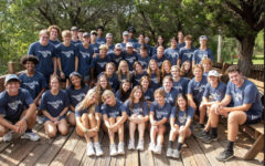 The seniors pose for a photo before leaving the retreat center.