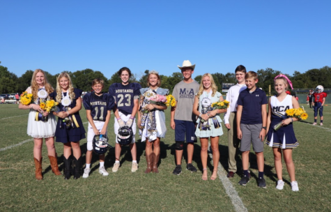 Middle School Homecoming Court.